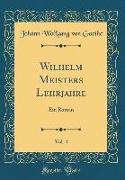 Wilhelm Meisters Lehrjahre, Vol. 4