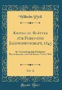 Kritische Blätter für Forst-und Jagdwissenschaft, 1845, Vol. 21