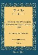 Jahrbuch der Deutschen Shakespeare-Gesellschaft, 1886, Vol. 21