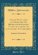 Colman The Younger als Dramatiker, Ein Beitrag zur Englischen Literaturgeschichte am Ausgange des 18. Jahrhunderts