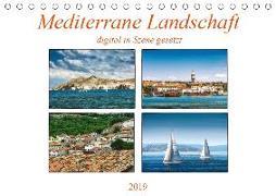 Mediterrane Landschaft digital in Szene gesetzt (Tischkalender 2019 DIN A5 quer)