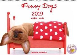 Funny Dogs (Wandkalender 2019 DIN A2 quer)