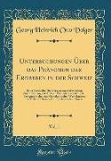 Untersuchungen Über das Phänomen der Erdbeben in der Schweiz, Vol. 1