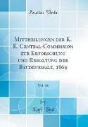 Mittheilungen der K. K. Central-Commission zur Erforschung und Erhaltung der Baudenkmale, 1869, Vol. 14 (Classic Reprint)
