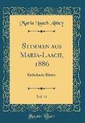 Stimmen aus Maria-Laach, 1886, Vol. 31