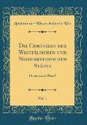 Die Chroniken der Westfälischen und Niederrheinischen Städte, Vol. 1