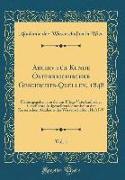 Archiv für Kunde Österreichischer Geschichts-Quellen, 1848, Vol. 1
