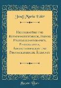 Heliogravüre und Rotationstiefdruck, Ferner Photogalvanographie, Photoglyptie, Asphaltverfahren und Photographische Ätzkunst (Classic Reprint)
