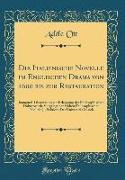 Die Italienische Novelle im Englischen Drama von 1600 bis zur Restauration