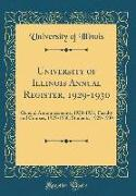 University of Illinois Annual Register, 1929-1930