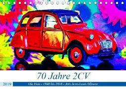 70 Jahre 2CV (Tischkalender 2019 DIN A5 quer)