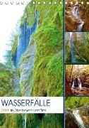 Wasserfälle in Oberbayern und Tirol (Tischkalender 2019 DIN A5 hoch)
