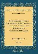 Sitzungsberichte der Philosophisch-Historischen Classe der Kaiserlichen Akademie der Wissenschaften, 1900, Vol. 142 (Classic Reprint)