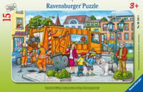 Unterwegs mit Müllabfuhr - Puzzle mit 15 Teilen