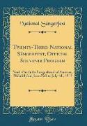 Twenty-Third National Sängerfest, Official Souvenir Program
