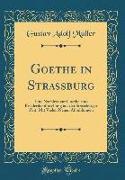 Goethe in Strassburg: Eine Nachlese Zur Goethe-Und Friederikenforschung Aus Der Strassburger Zeit, Mit Vielen Neuen Abbildungen (Classic Rep