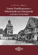 Unsere Familiennamen - Schatzfunde aus Harzgerode und dem Unterharz