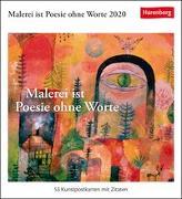 Malerei ist Poesie ohne Worte Kalender 2020