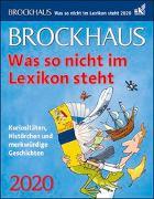 Brockhaus Was so nicht im Lexikon steht Kalender 2020