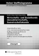 Holzer Stofftelegramme Baden-Württemberg – Wirtschafts- und Sozialkunde (Gesamtwirtschaft), Gemeinschaftskunde