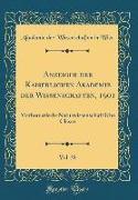 Anzeiger der Kaiserlichen Akademie der Wissenschaften, 1901, Vol. 38