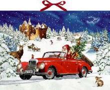 Wandkalender – Winterfahrt im Oldtimer