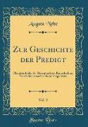 Zur Geschichte der Predigt, Vol. 3