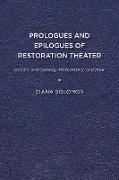 Prologues and Epilogues of Restoration Theater