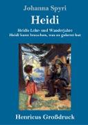 Heidis Lehr- und Wanderjahre / Heidi kann brauchen, was es gelernt hat (Großdruck)