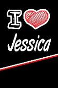 "I Love Jessica: Beer Tasting Journal Rate and Record Your Favorite Beers Featuring 120 Pages 6""x9"""