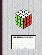"""Isometric Graph Paper Notebook: Rubik's Cube - For Students, Engineers, 3D Designers - Large Size (8.5"""" X 11"""")"""