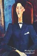 Modigliani Notizbuch: Jean Cocteau - Trendy Liniertes Notizbuch - Softcover, 100 Seiten