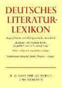 Deutsches Literatur-Lexikon. Bd. 27: Deutsches Literatur-Lexikon. Siebenundzwanzigster Band