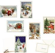 Nostalgische Weihnachtsdoppelkarten mit Kuvert