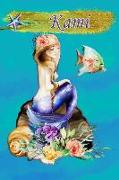 Heavenly Mermaid Kami: Wide Ruled Composition Book Diary Lined Journal