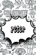 Peter: Personalized Doodle Isometric Dot Paper Notebook Featuring 120 Pages 6x9
