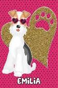 Foxy Life Emilia: College Ruled Composition Book Diary Lined Journal