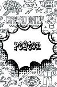 Peyton: Personalized Doodle Isometric Dot Paper Notebook Featuring 120 Pages 6x9