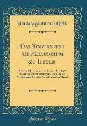 Das Todtenfest am Pädagogium zu Ilfeld