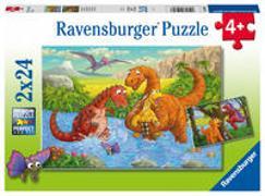 AT: Süße Dinos Puzzle 2 x 24 Teile