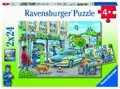 AT: Polizeistation Puzzle 2 x 24 Teile