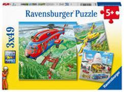 AT: Flugzeuge Puzzle 3 x 49 Teile