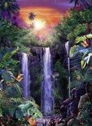 Traumhafte Wasserfälle Puzzle 500 Teile