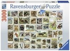 Tierbriefmarken Puzzle 3000 Teile