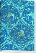 Gefährlich schön besticktes Notizheft klein Motiv Blauer Vogel