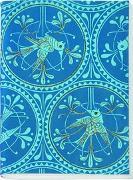 Gefährlich schön Besticktes Notizheft groß Motiv Blauer Vogel