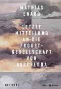 Letzte Mitteilung an die Proust-Gesellschaft von Barcelona