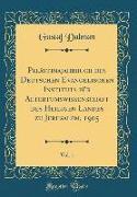 Palästinajahrbuch des Deutschen Evangelischen Instituts für Altertumswissenschaft des Heiligen Landes zu Jerusalem, 1905, Vol. 1 (Classic Reprint)