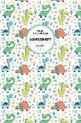 Mein Dinosaurier Schreibheft Liniert: Geschenkidee Für Jungen Und Mädchen - 120 Seiten - Soft Cover Mit Glanz-Finish - Motiv: Dino Power