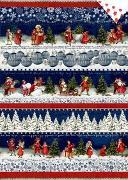 Geschenkpapier-Bogen - Nostalgische Weihnacht überall